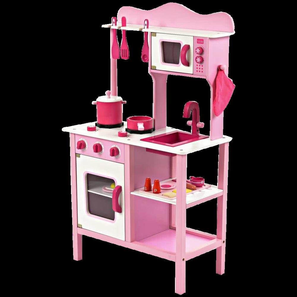 Drewniana Kuchnia Dla Dzieci Klasyczna Rozowa Dziewczynka