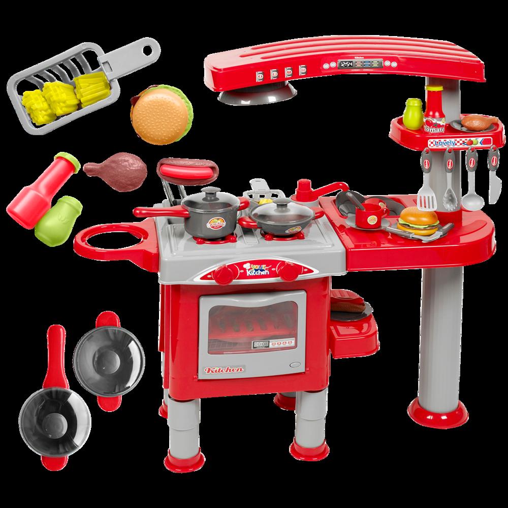 Duża Kuchnia Dla Dzieci Z Akcesoriami Piekarnik Okap