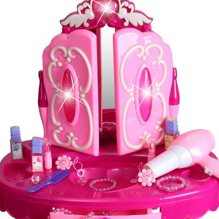 Duża toaletka z różdżką pilotem dla dziewczynki Lustro Suszarka